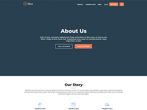 Hubspot Website Template - Dew About Us Version 2