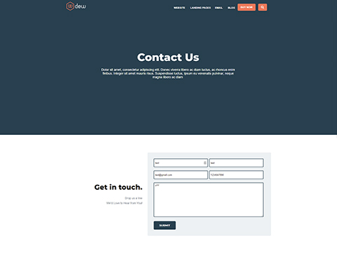Hubspot Website Template - Dew Contact Us Version 1