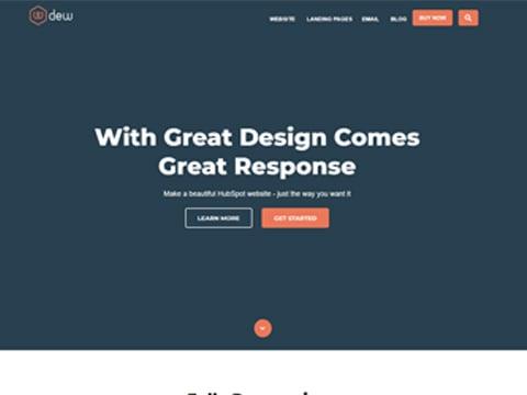 Hubspot Website Template - Dew Homepage Version 1