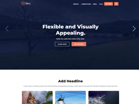 Hubspot Website Template - Dew Homepage Version 2