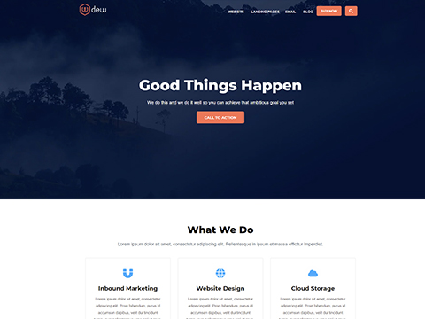 Hubspot Website Template - Dew Service Page