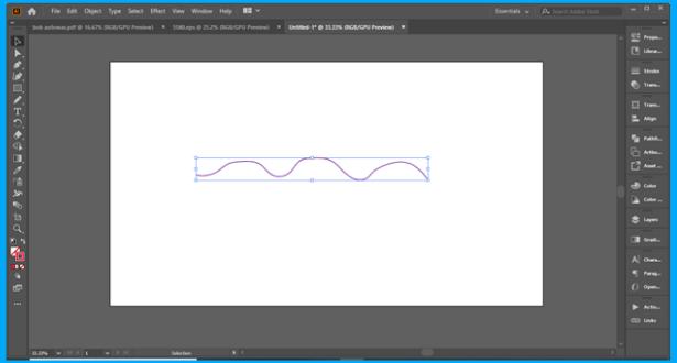 Illustrator draw a curved path