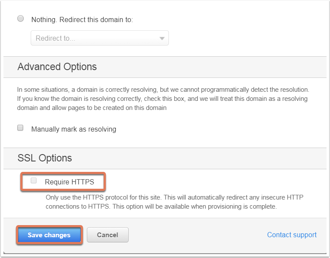 SSL options