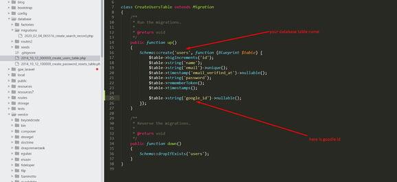 added code after migration