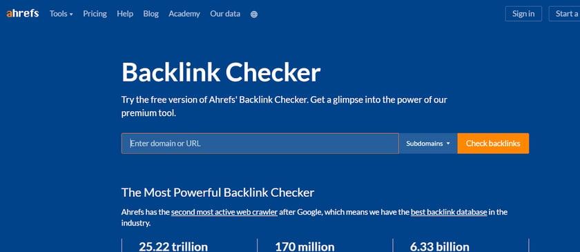 ahrefs-backlink-checker