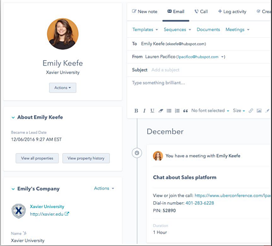 Alternatives to HubSpot - Updating the Contact Details