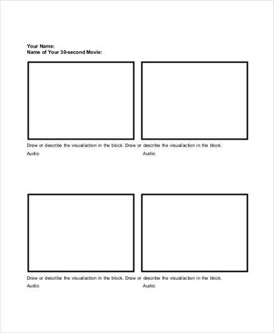 Basic storyboard template