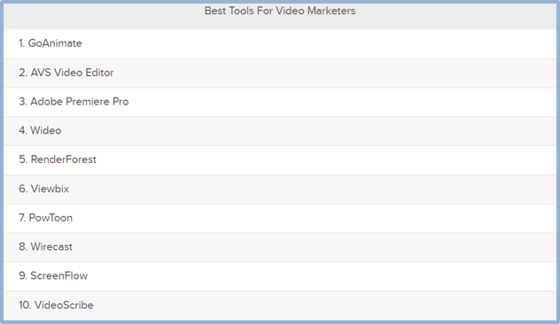 Best tools for video marketers