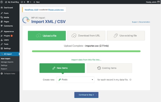 blog imported save in csv