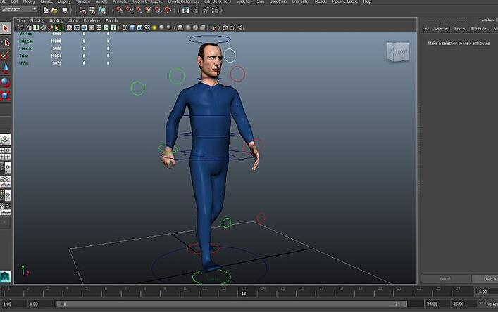 Character Animation - Model in Animation