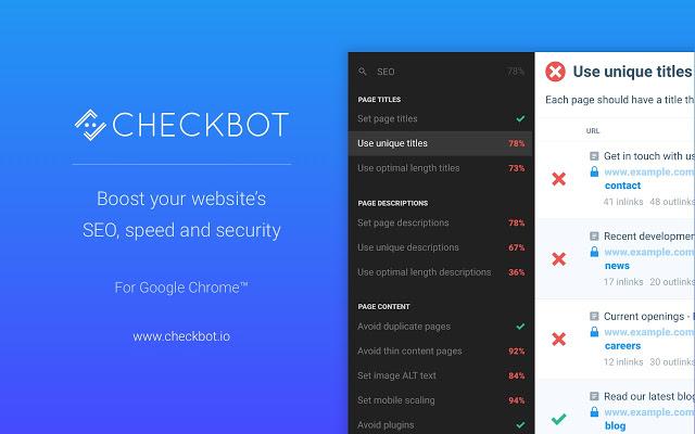 Checkbot chrome extension