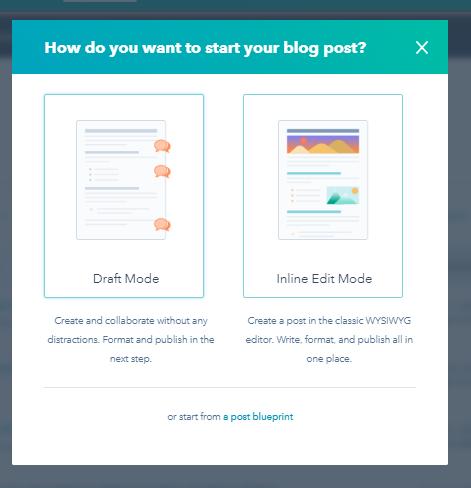 Choose blog post mode
