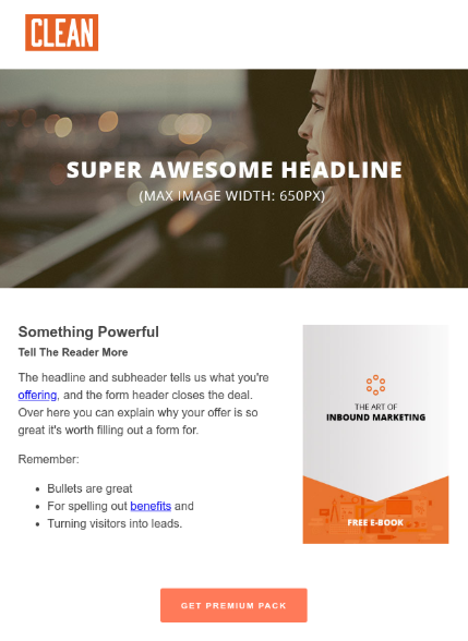 Clean 6-1 Hubspot Email Template