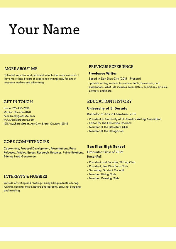 Best Examples Of Digital Marketing Resume For Freshers