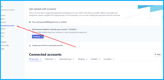 Create a connected account