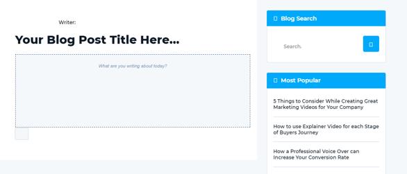 Create blog in inline mode
