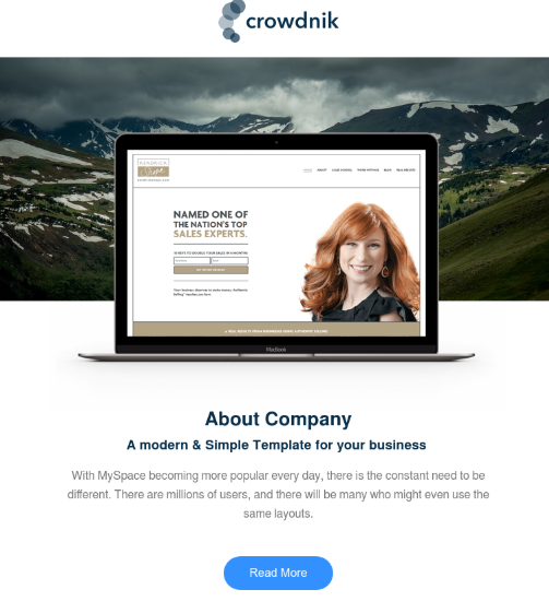 Crowdnik Hubspot Email Template