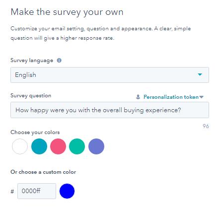Customize the survey