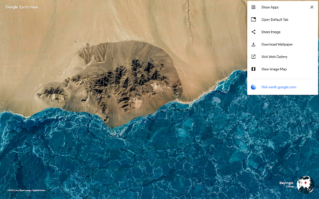 Earth view Chrome Extension