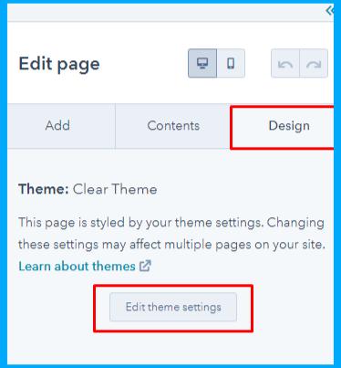 edit theme settings