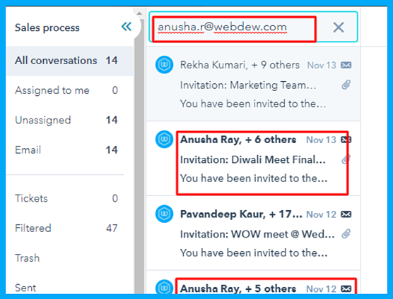 Email Search In Conversations Inbox