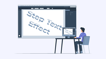 How to create a Step Text effect in Illustrator? [Step-by-step guide]