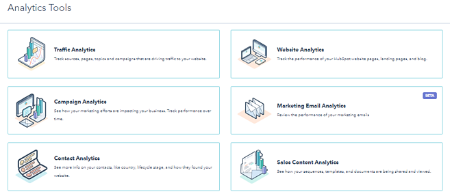 HubSpot analytics tools
