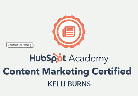 HubSpot Content Marketing certification