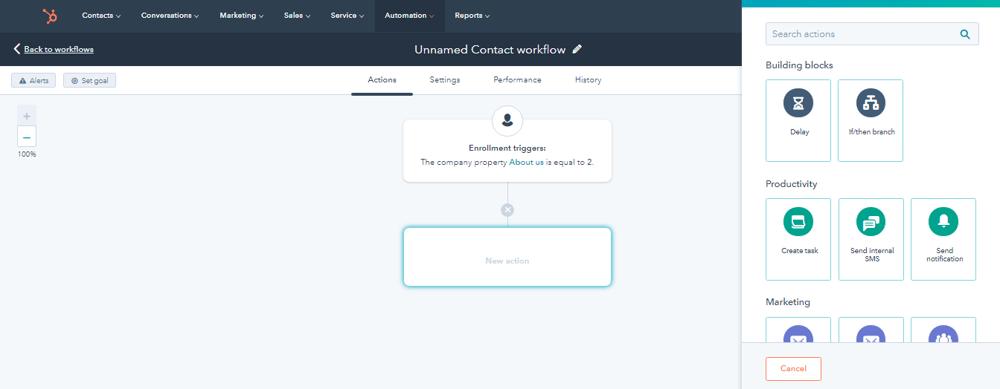 HubSpot CRM Plus Icon + Button