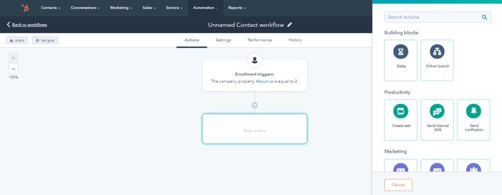 HubSpot CRM - Plus Icon + Button