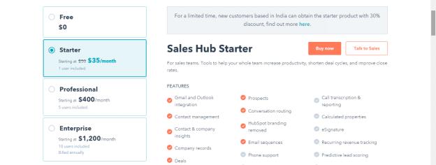HubSpot CRM - Sales Starter