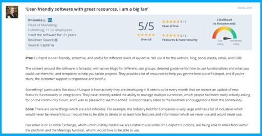 hubspot-customer-support-reviews-5-capterra-1