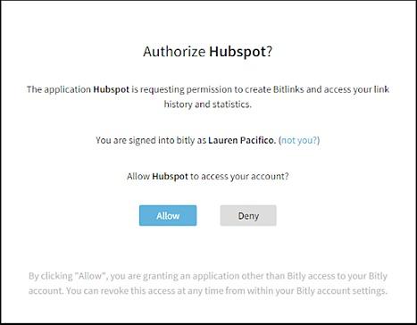 hubspot-integration-bitly