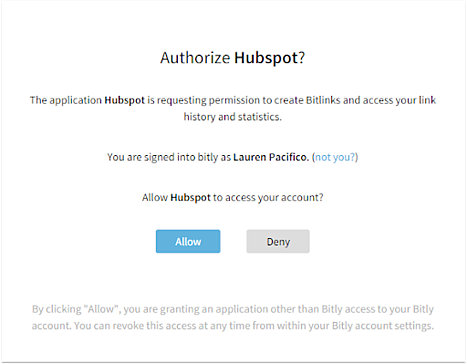 HubSpot Integration with Bitly