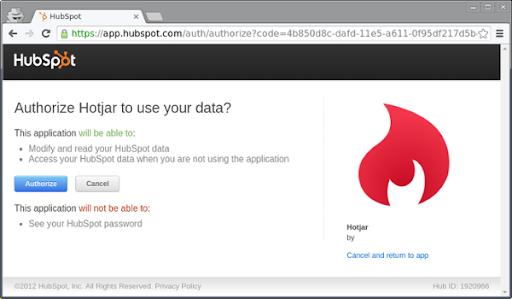 HubSpot Integration with Hotjar