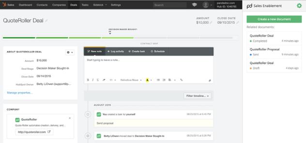 HubSpot Integration with Pandadoc