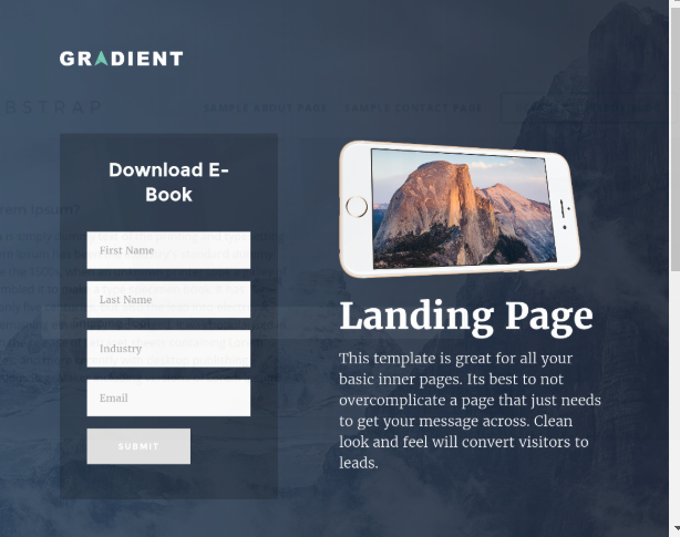 HubSpot Landing Pages - Gradient