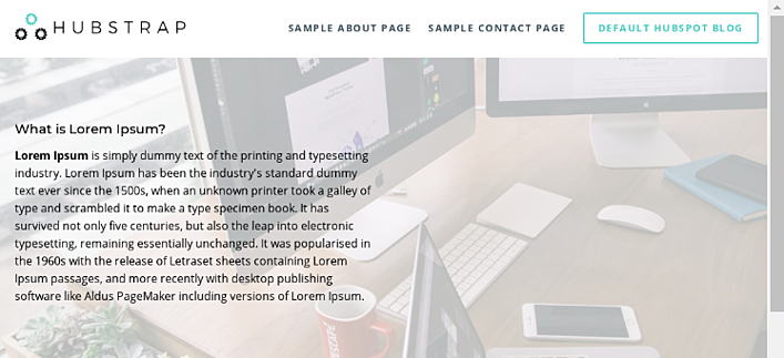 HubSpot Landing Pages - Hubstrap