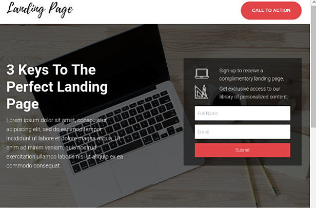 HubSpot Landing Pages - Landing Form