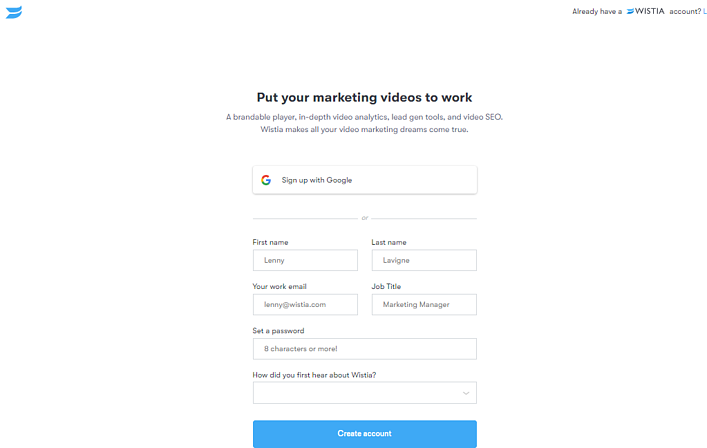 HubSpot Landing Pages - Wistia