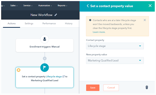 Hubspot Lifecycle Stages Contacts Records