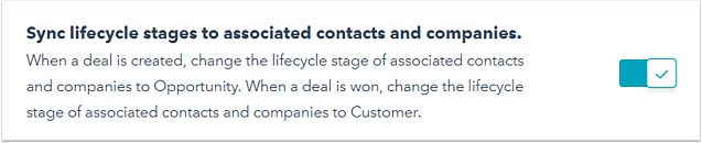 Hubspot Lifecycle Stages Sync Lifecycle