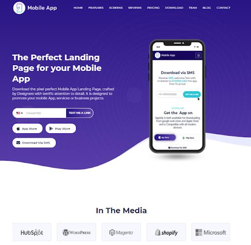 Hubspot Marketplace - Mobile App home