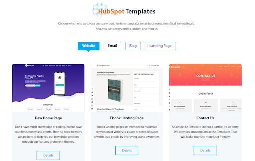Hubspot Marketplace - Template Webdew