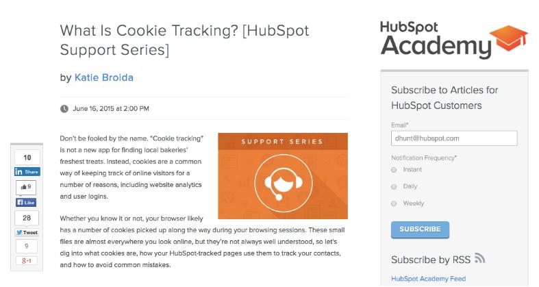 HubSpot optimize blog post
