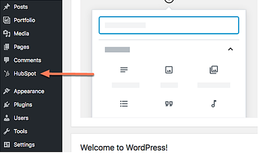 Hubspot Plugin For Wordpress Sidebar Menu