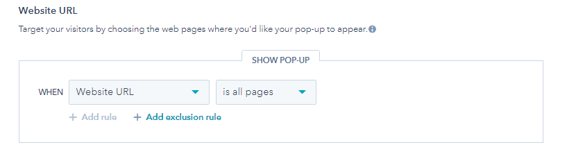Hubspot Pop Up Forms Add Excursion Rule