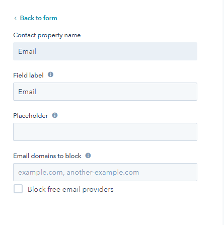 Hubspot Pop Up Forms Button Text