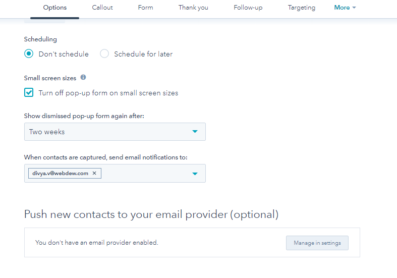 Hubspot Pop Up Forms Push New Contacts