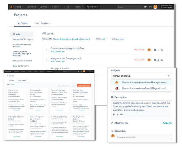 HubSpot project management tool